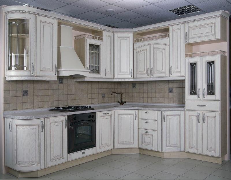 Кухонный гарнитур. Цвет белый. Итальянский фасад.